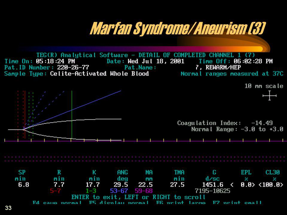 Marfan Syndrome/Aneurism (3)