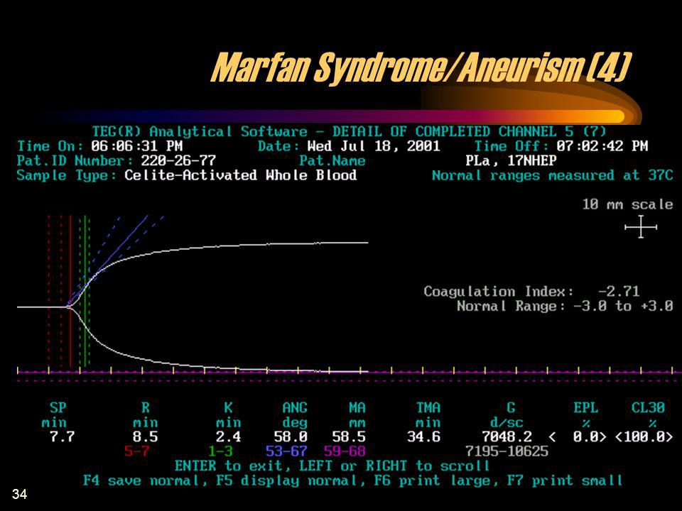 Marfan Syndrome/Aneurism (4)