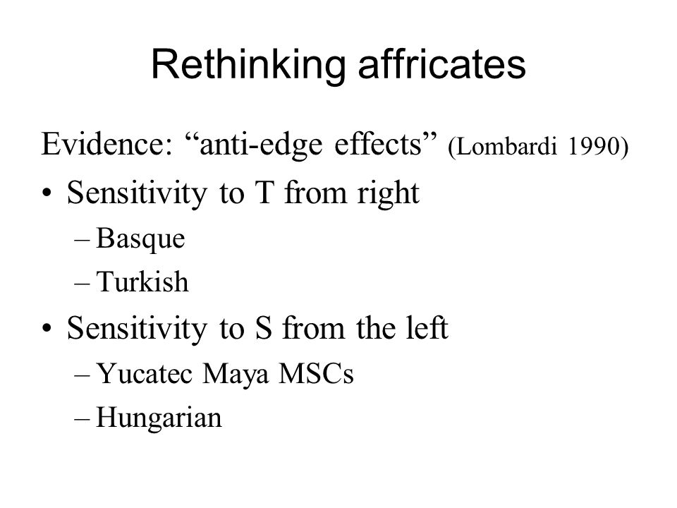 Rethinking affricates