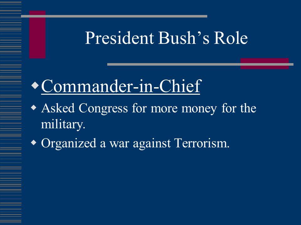 President Bush's Role Commander-in-Chief