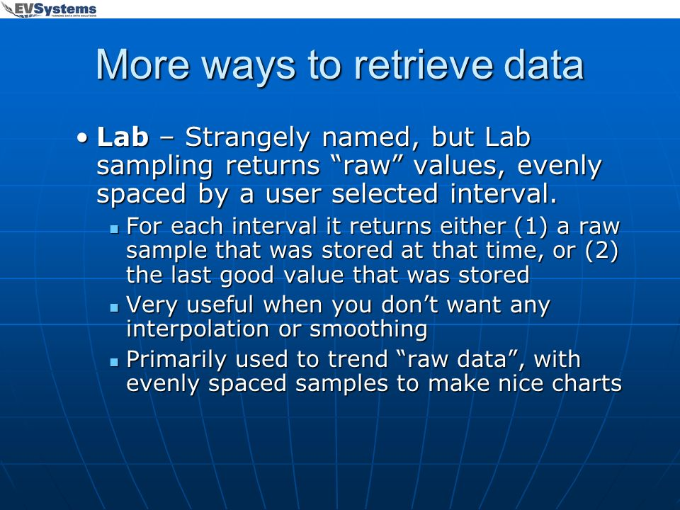 More ways to retrieve data