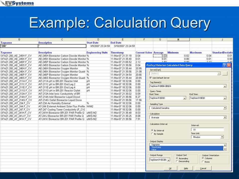 Example: Calculation Query