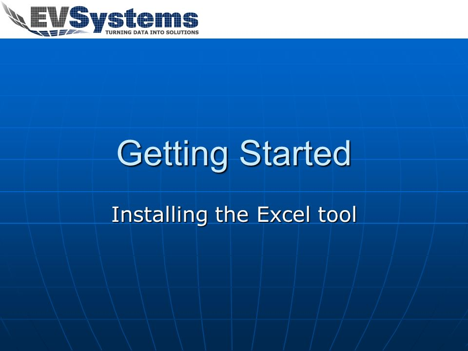 Installing the Excel tool