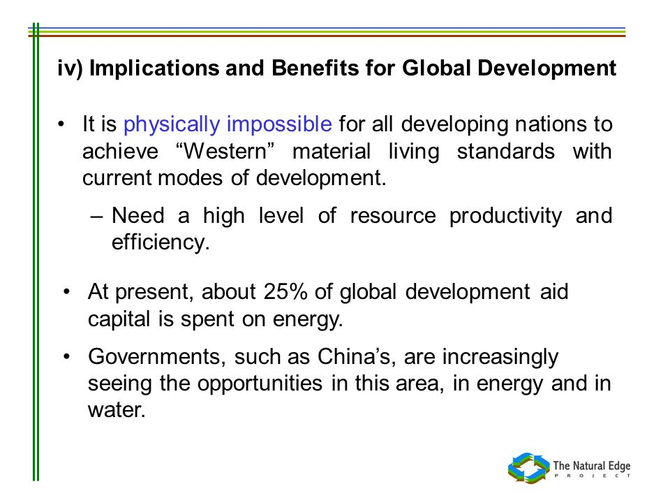 iv) Implications and Benefits for Global Development