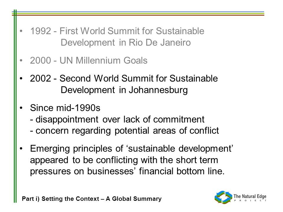 2002 - Second World Summit for Sustainable Development in Johannesburg