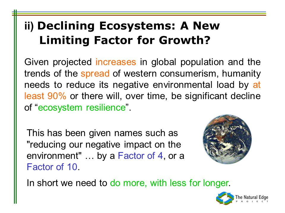 ii) Declining Ecosystems: A New Limiting Factor for Growth