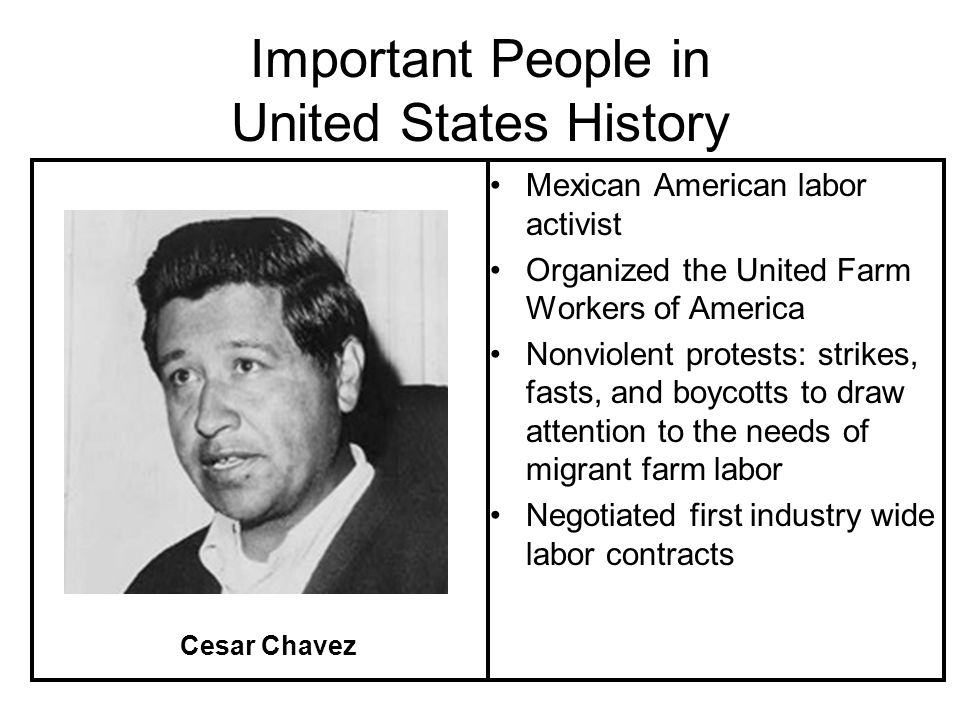 Important People in United States History