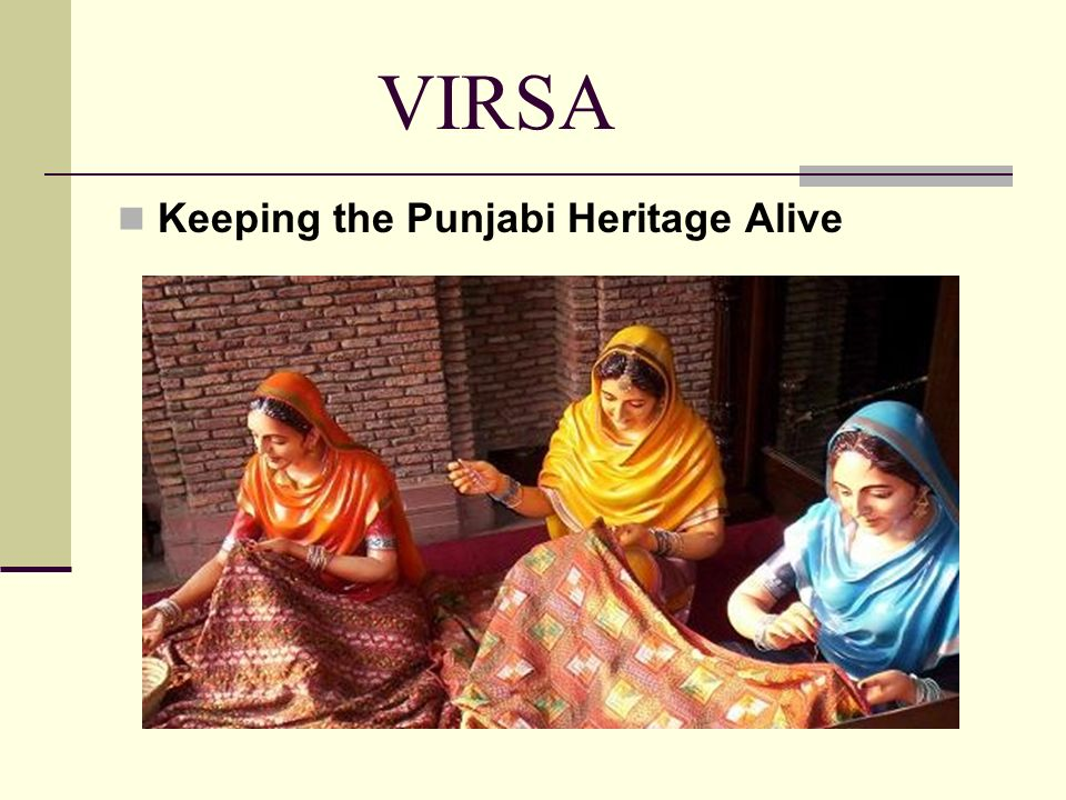 VIRSA Keeping the Punjabi Heritage Alive