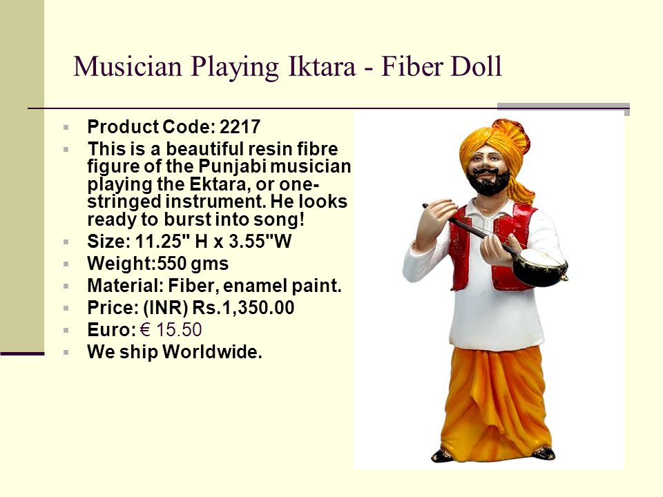 Musician Playing Iktara - Fiber Doll