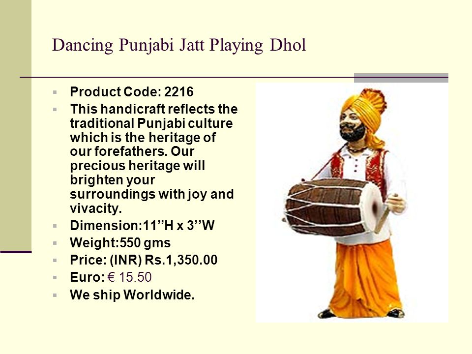 Dancing Punjabi Jatt Playing Dhol