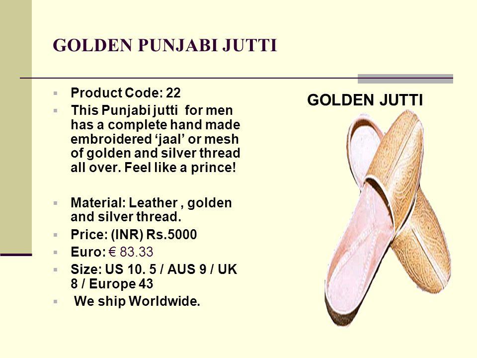 GOLDEN PUNJABI JUTTI GOLDEN JUTTI Product Code: 22
