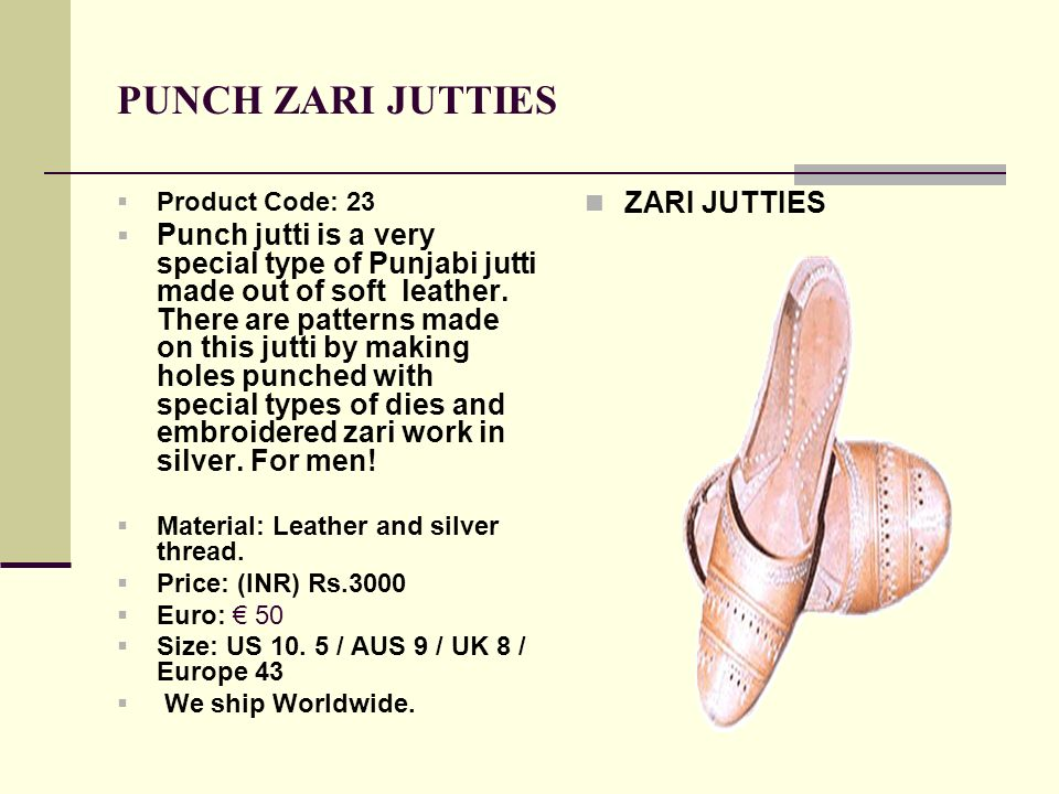 PUNCH ZARI JUTTIES ZARI JUTTIES