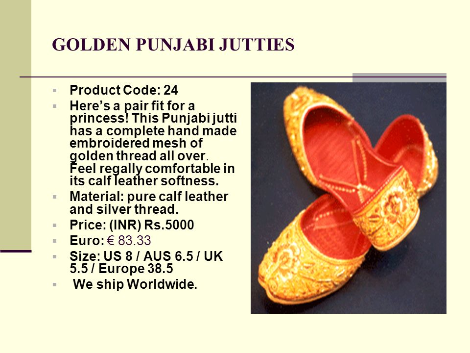 GOLDEN PUNJABI JUTTIES
