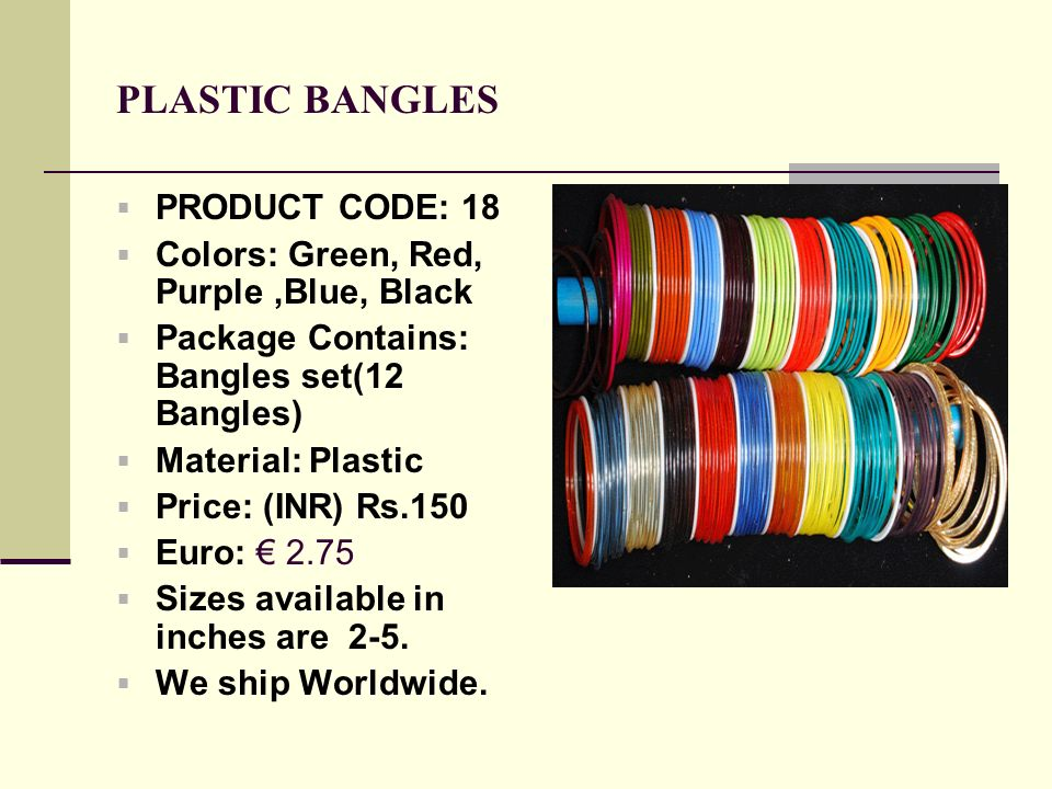 PLASTIC BANGLES PRODUCT CODE: 18