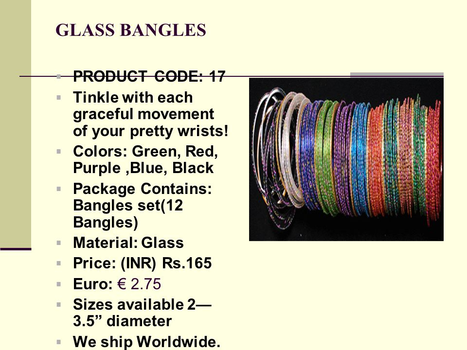 GLASS BANGLES PRODUCT CODE: 17