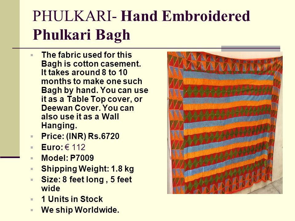 PHULKARI- Hand Embroidered Phulkari Bagh