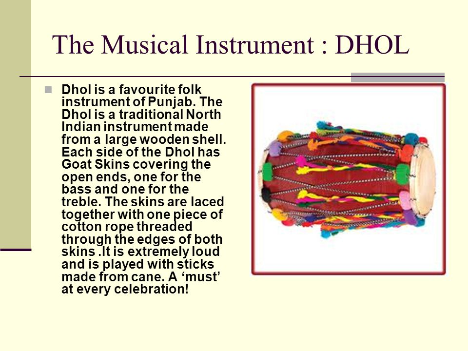 The Musical Instrument : DHOL