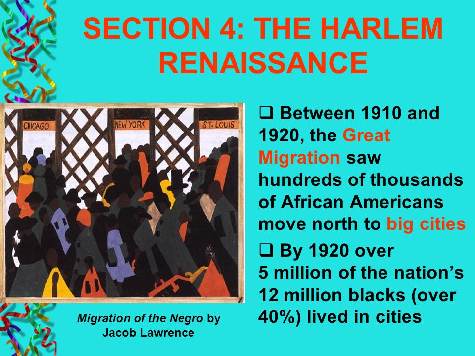 SECTION 4: THE HARLEM RENAISSANCE