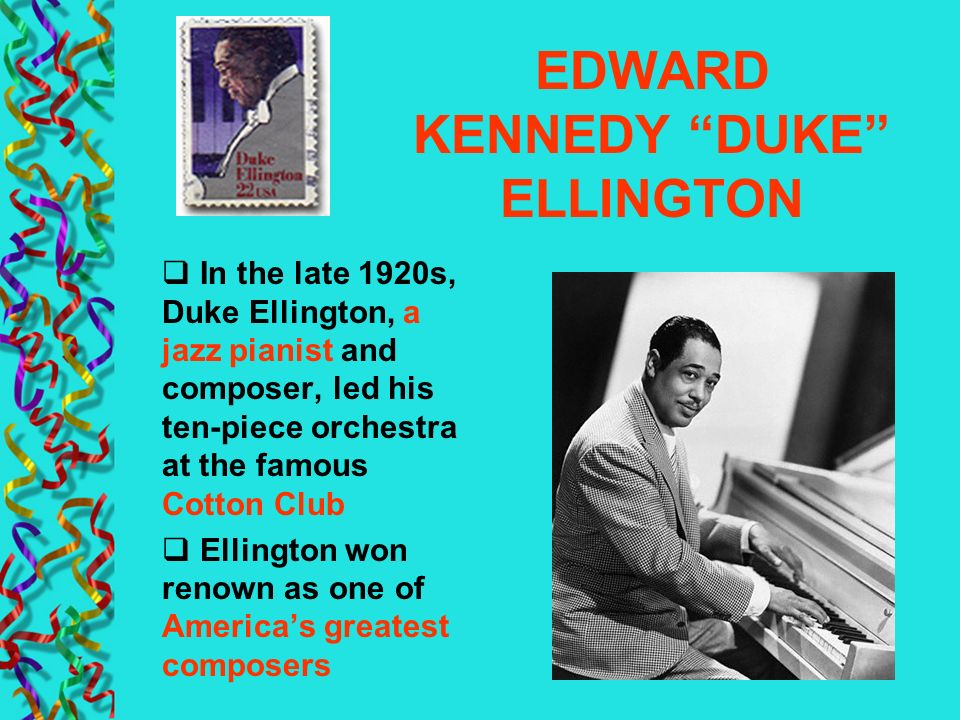 EDWARD KENNEDY DUKE ELLINGTON