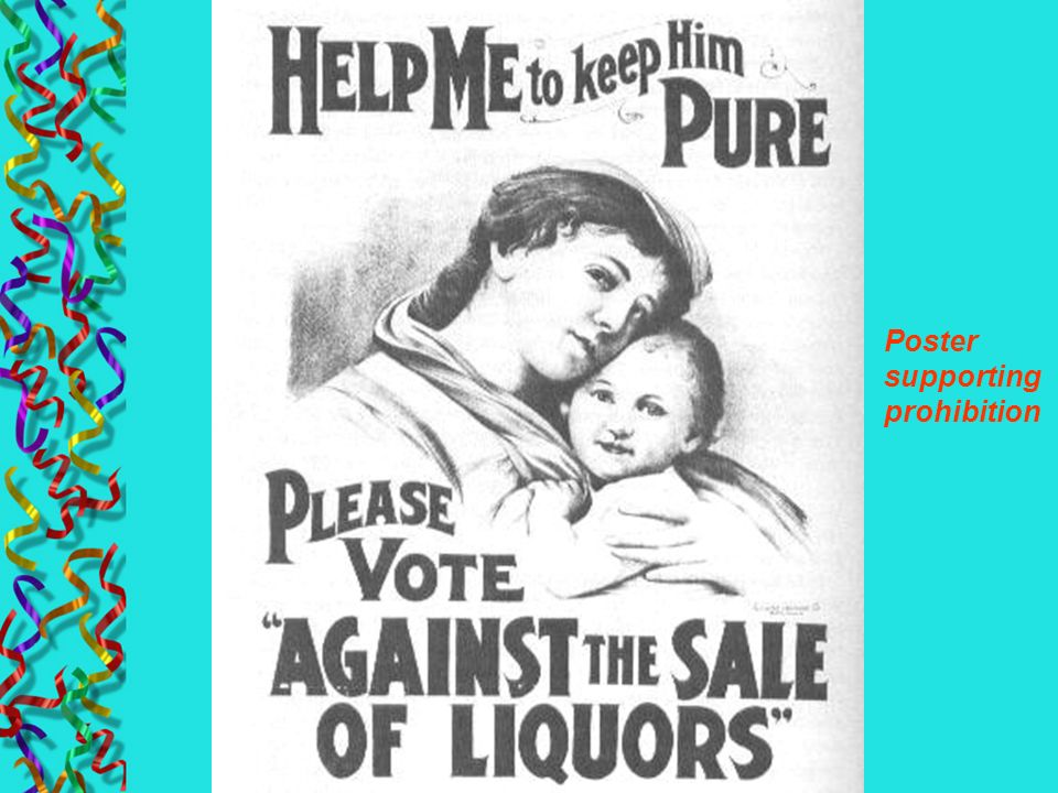 Poster supporting prohibition