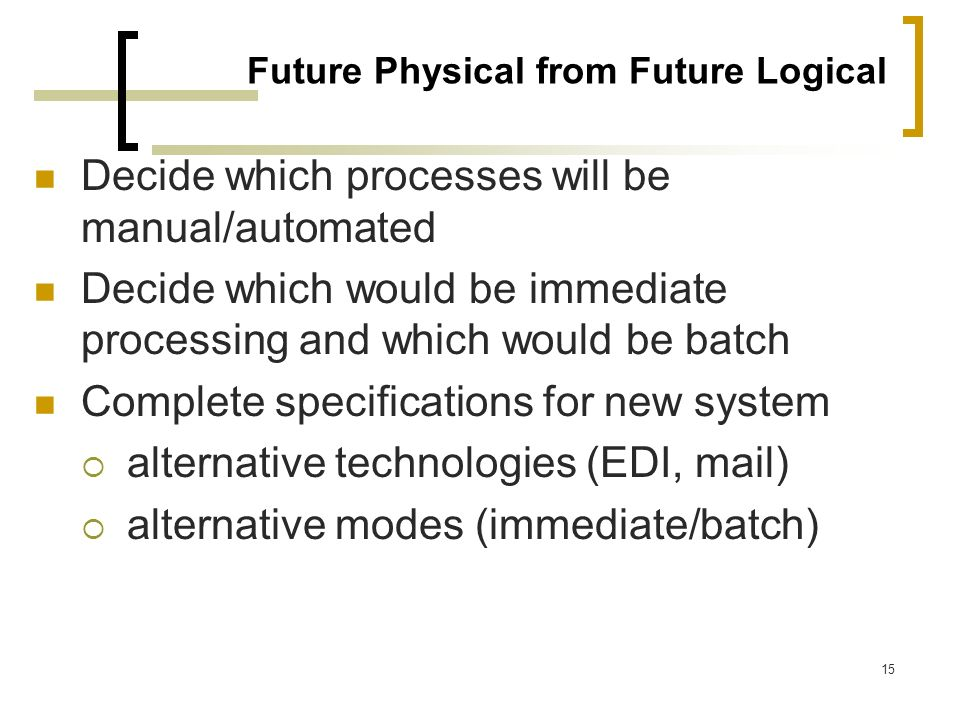 Future Physical from Future Logical