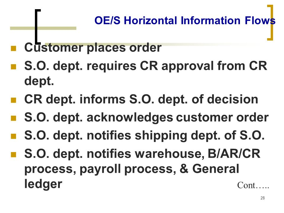 OE/S Horizontal Information Flows