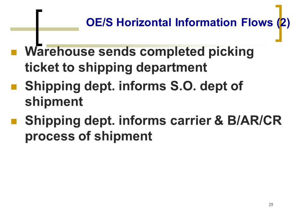 OE/S Horizontal Information Flows (2)