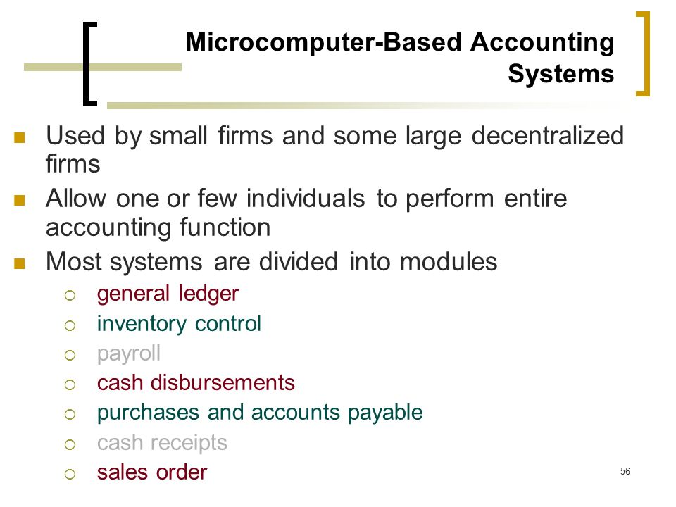 Microcomputer-Based Accounting Systems