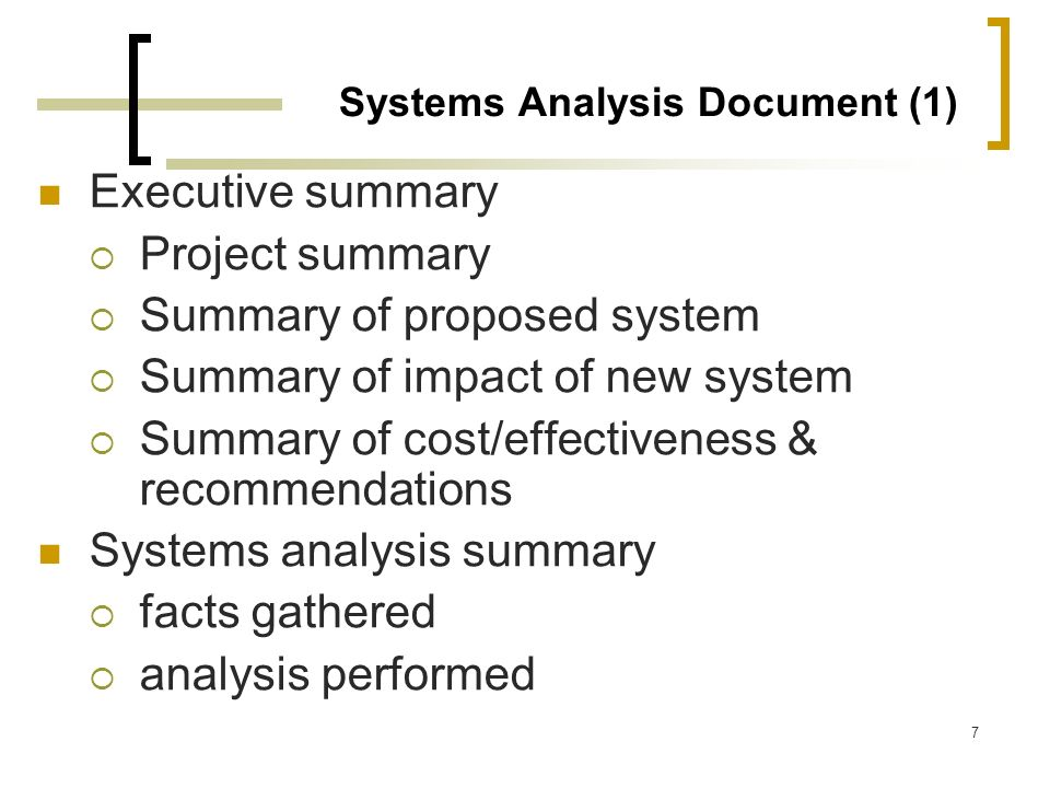 Systems Analysis Document (1)