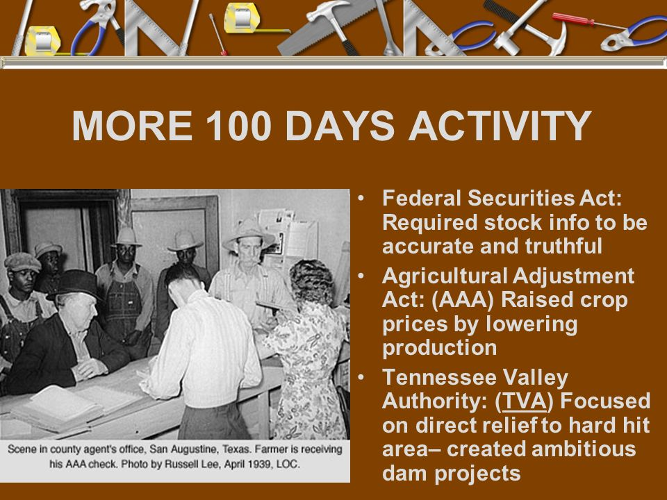 MORE 100 DAYS ACTIVITY Federal Securities Act: Required stock info to be accurate and truthful.