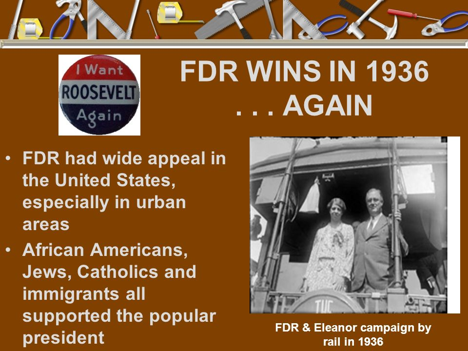 FDR & Eleanor campaign by rail in 1936
