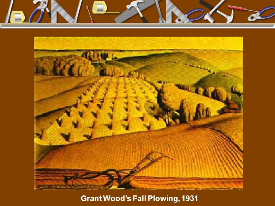 Grant Wood's Fall Plowing, 1931