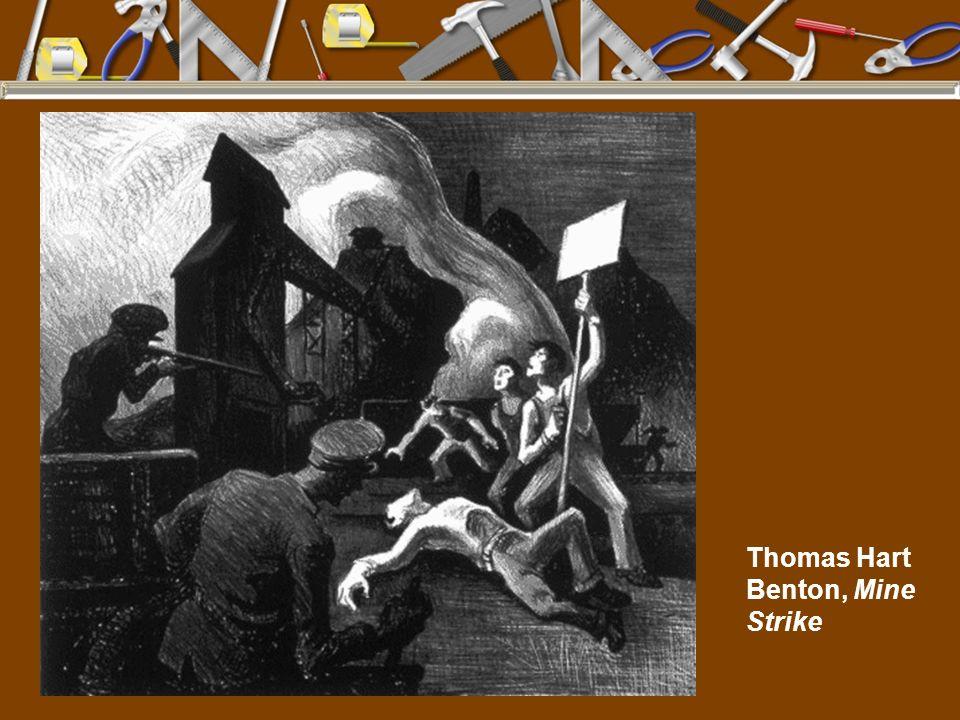 Thomas Hart Benton, Mine Strike