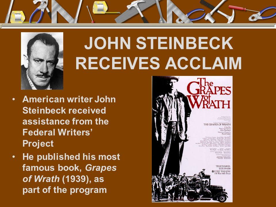 JOHN STEINBECK RECEIVES ACCLAIM