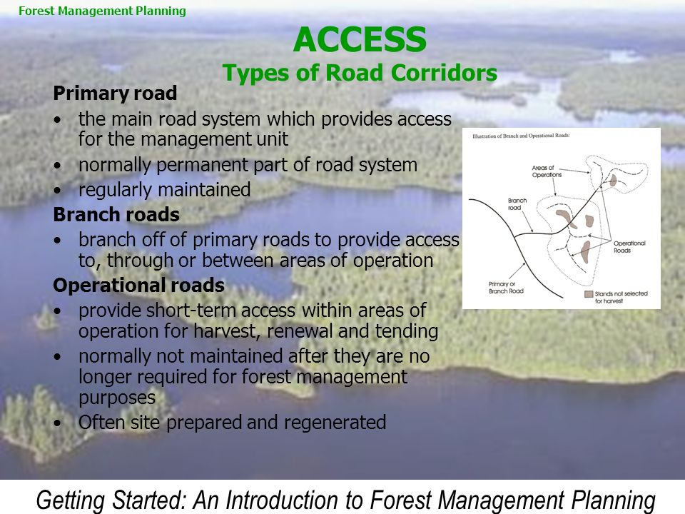 ACCESS Types of Road Corridors