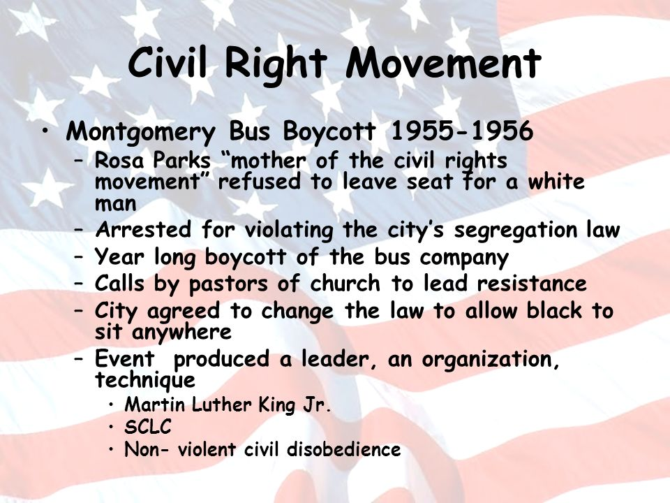 Civil Right Movement Montgomery Bus Boycott 1955-1956