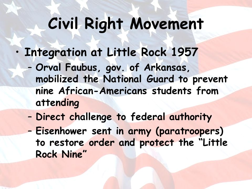 Civil Right Movement Integration at Little Rock 1957