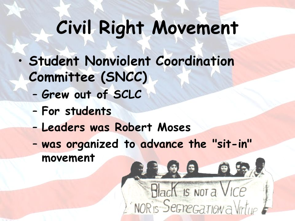 Civil Right Movement Student Nonviolent Coordination Committee (SNCC)