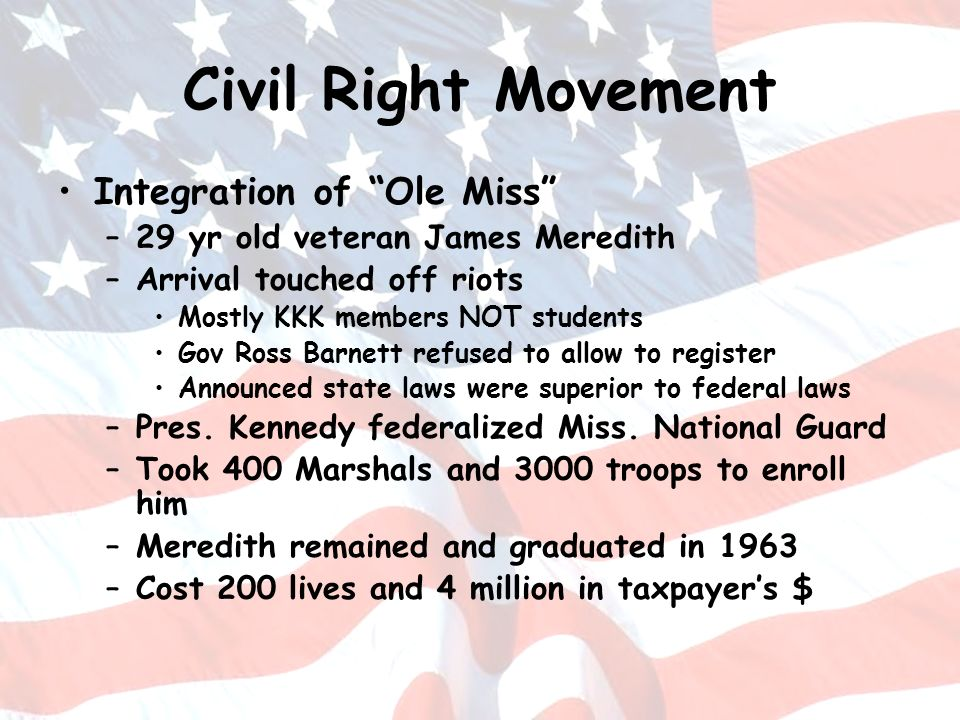Civil Right Movement Integration of Ole Miss