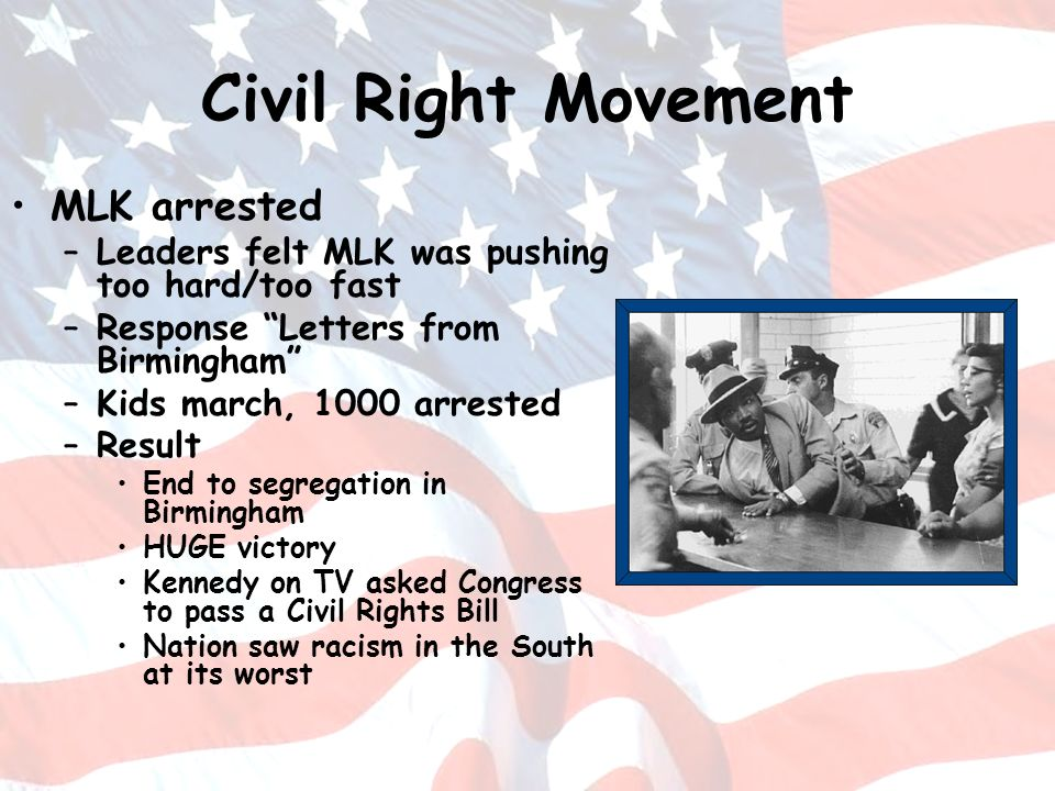 Civil Right Movement MLK arrested