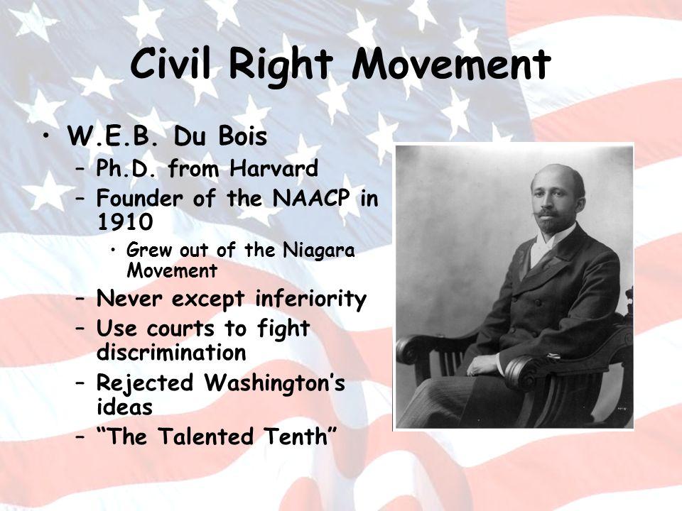 Civil Right Movement W.E.B. Du Bois Ph.D. from Harvard