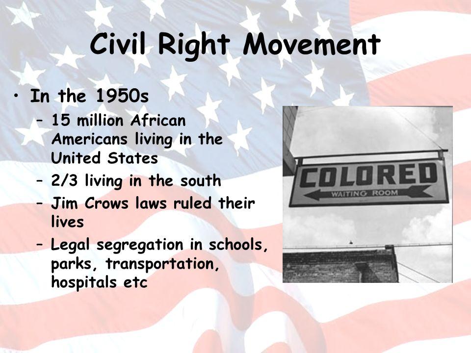 Civil Right Movement In the 1950s
