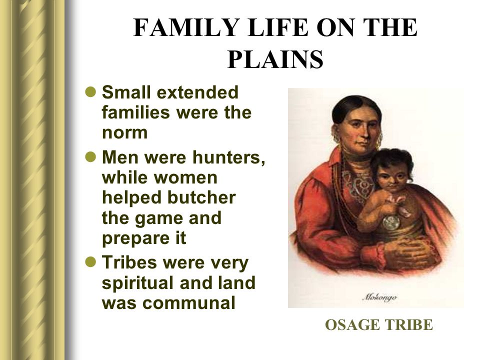 FAMILY LIFE ON THE PLAINS