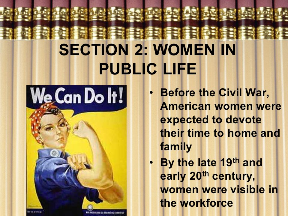 SECTION 2: WOMEN IN PUBLIC LIFE