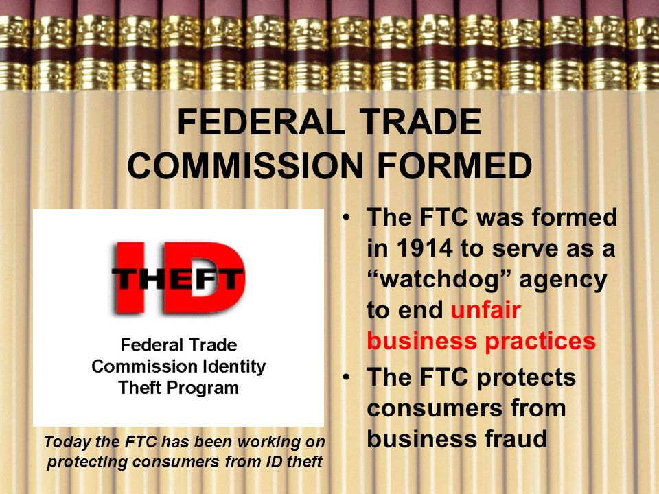 FEDERAL TRADE COMMISSION FORMED