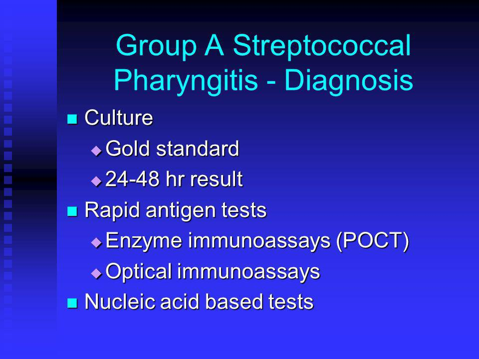 Group A Streptococcal Pharyngitis - Diagnosis