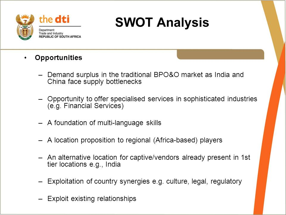 an analysis of outsourcing agents Outsourcing swot analysis to india everyday your business is faced with new challenges, strengths, weaknesses, opportunities and threats the good thing is, what.