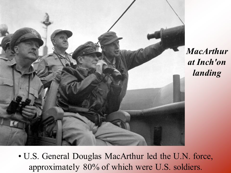 MacArthur at Inch on landing