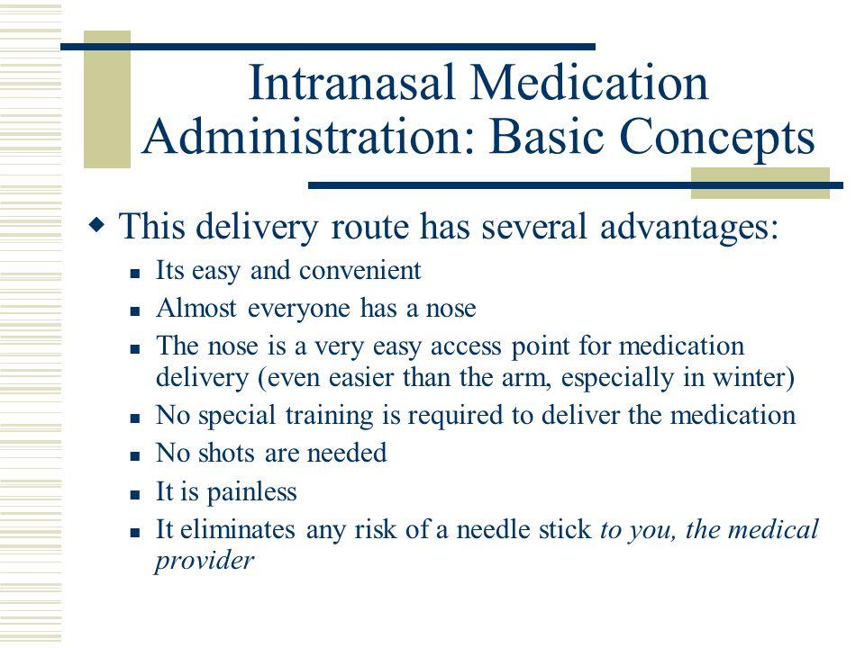 Intranasal Medication Administration: Basic Concepts