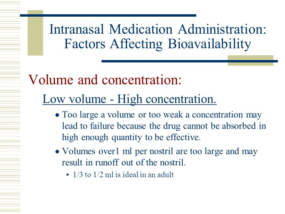 Volume and concentration: